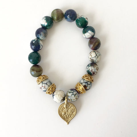 Agate and Gold Bracelet