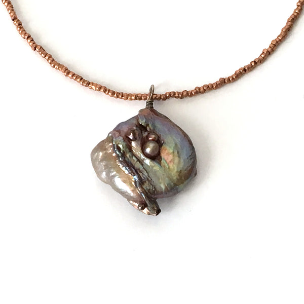 Fresh Water Coin Pearl Necklace
