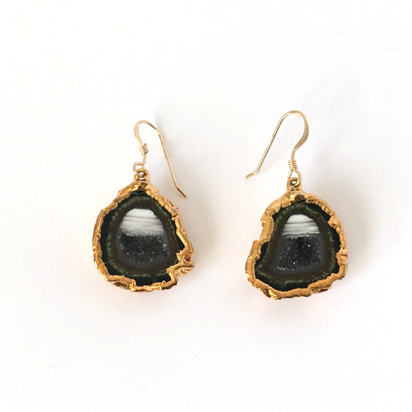 Druzy Agate Drop Earrings