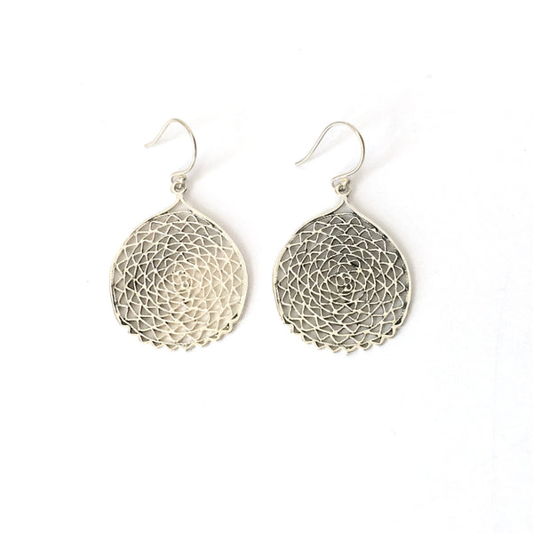 Silver Filigree Sea Fan Earrings