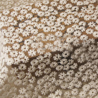 115cm Width Soft Daisy Floral Embroidery Lace Fabric by The Yard