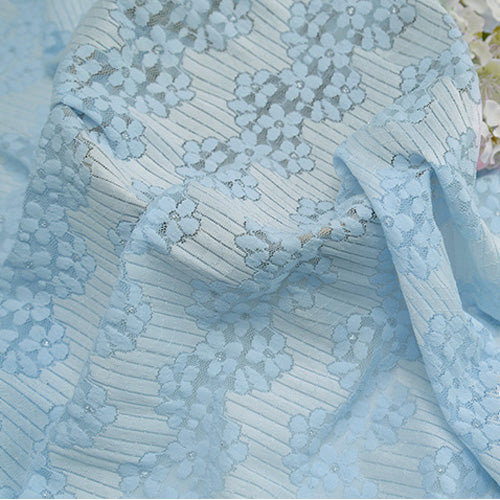 150cm Width x 95cm Length Hollow out Floral Embroidery Lace Fabric