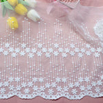 "2 Yards of 13"" Width Raindrop Like Floral Lace Fabric Trim"