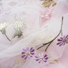 136cm Width  Floral Embroidery Lace Fabric by the Yard White