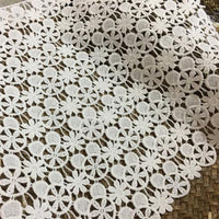 23cm Width x 180cm Length Floral Water Soluble Embroidery Lace Fabric Trim