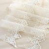 2 Yards of 25cm Width Double-Row Embroidery Floral Lace Fabric Trim Beige