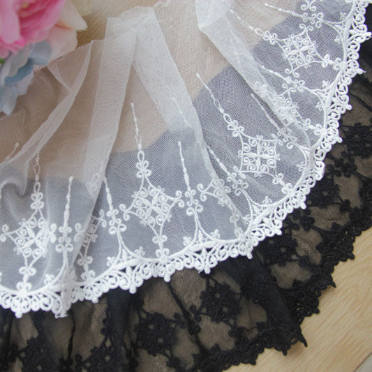 2 Yards of 13cm Gothic Embroidery Lace Fabric Trim