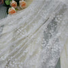 130cm Width  Vine  Floral Embroidery Lace Fabric by the Yard