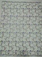 130cm Width Branch Floral  Embroidery Lace Fabric by the Yard