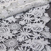 125cm Width Premium Hollow-out Floral Embroidery Lace  Fabric  by the Yard