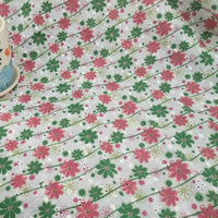 135cm Width Daisy Floral Print Eyelet Embroidery Cotton Fabric by the Yard
