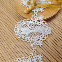 4.5 yards x 5cm Width Retro cat Embroidery Water Soluble Chemical Lace Ribbon