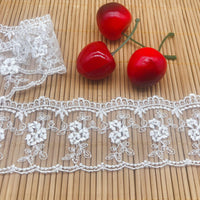 4.5 Yards of 4.4cm Width Retro Floral Water Soluble Tulle Lace Ribbon