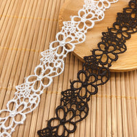 4.5 Yards of 1.8cm Width Retro Floral Water Soluble Lace Ribbon
