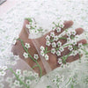 126cm Width Spring and Summer Fairy  Floral Embroidery Tulle Lace Fabric by the Yard