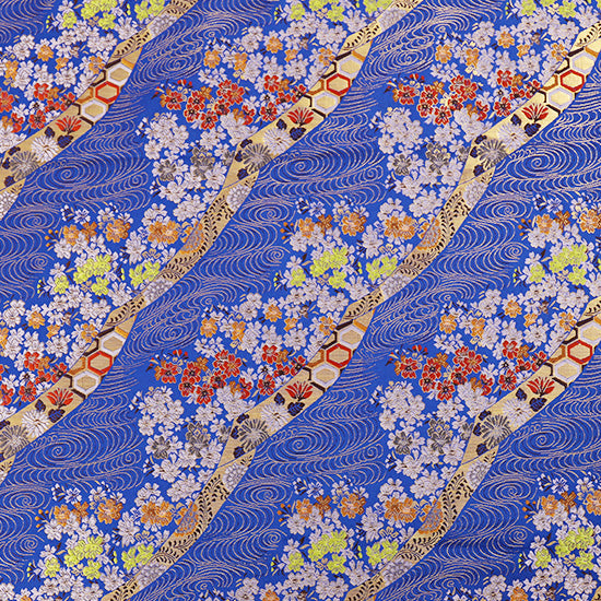 70cm Width x 95cm Length Sakura Foral Jacquard Embroidery  Fabric  Japanese Pattern Fabric  Japanese Style Cloth