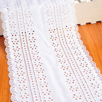 2 Yards of 8 inches Width Cotton Embroidery Eyelet Fabric Trim