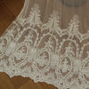 "51"" Width Double-sided Symmetrcal Vintage Floral Embroidered Lace Fabric by the Yard"