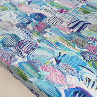 150cm Width Bohemia fish Art Print  Cotton Canvas Fabric by the Yard
