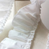 4 Yards Vintage Pleated Ruffled Frill Cotton Lace