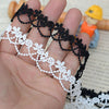 5 Yards of 1.7cm Width Exquisite Flower and Beads Embroidery Lace Trim