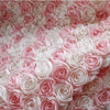 "51"" Width Premium Designer Romantic 3D Floral Rose Bud Lace Fabric by the Yard"