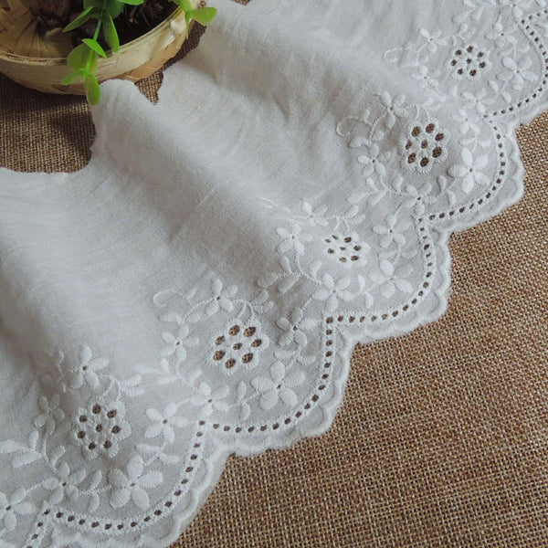 5 Yards of 13.2cm Width Retro Embroidery Floral Lace Eyelet Trim