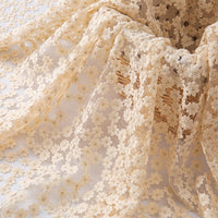 135cm Width Premium Floral Embroidery Lace Fabric by the Yard