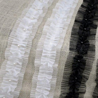 5 Yards of 4.5cm Width Pleated Chiffon Beaded Clothing Sewing Lace Ribbon