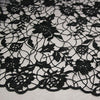 "48"" Width Skinny Floral Chemical Lace Fabric Black Hollow Dress Fabric by the Yard"