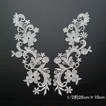 Style Water Soluble Lace Applique Lace Motif(1 Pair)