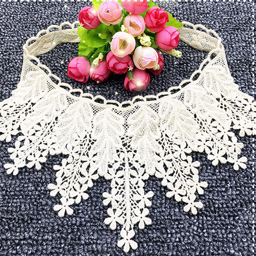 2PCs Cotton Vintage Floral Lace Applique