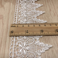 4 Yards x 6.5cm Width  Retro Floral Tassle-like Water Soluble Chemical Lace Ribbon Tape