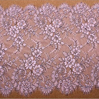 3 Yards of 47cm Width Premium Eyelash Embroidery Lace Embellishment Fabric Trim