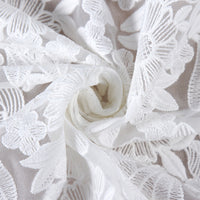 125cm Width Hollow-out 3D Flower Cluster Floral Embroidery Lace Fabric by the Yard