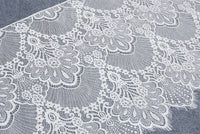 3 Meters of  Vintage Phoenix Tail and Floral Embroidery Eyelash Lace Fabric Trim