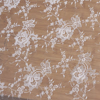 150cm Width Vine Flowrer Branch Floral Embroidery Lace Fabric by the Yard