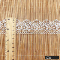 4.5 Yards of 1.5 inches Width Vintage Flower Water Soluble Lace Ribbon
