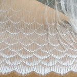 3 Meters of 1.5 Meter Width Wave Pattern Embroidery Lace Fabric