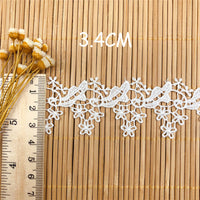 4.5 yards x 3.4cm Width Retro Golden Line Embroidery Lace Fabric Ribbon