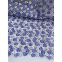 125cm Width x 95cm Length Daisy Floral Embroidery Water Soluble Lace Fabric