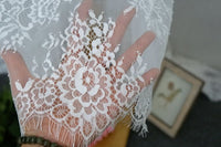 150cm Width x 300cm Length  Premium Eyelash Floral Embroidery Lace Fabric Panel