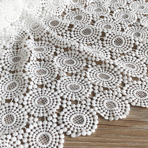 120cm Width x 60cm Length Premium USA style Hollow out  Embroidery Lace Fabric