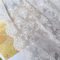 125cm Width 3D Floral Embroidery Tulle Lace Fabric by the Yard