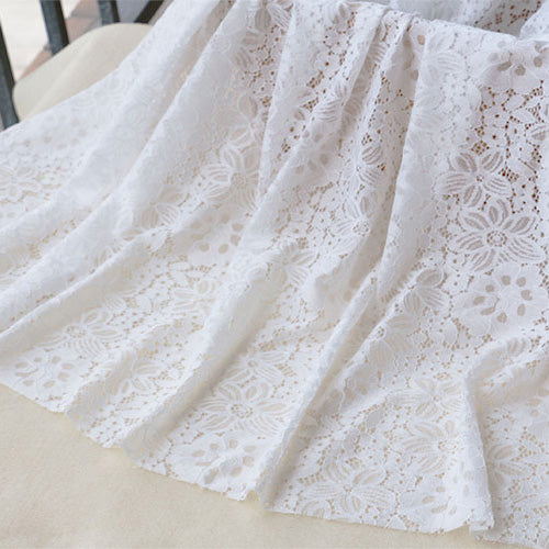 145cm Width Length Water Soluable Lace Floral Embroidery Lace Fabric by the Yard