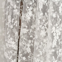 135cm Width Organza Botanical Vine Floral Embroidery Wedding Lace Fabric by The Yard