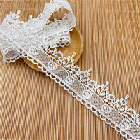 4.5 Yards x 3.9cm Width Retro Water Soluble Lace Ribbon