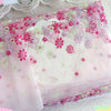 19cm Width x 270cm Length Premium Colorful Pink Daisy Floral Embroidery Lace Fabric Trim