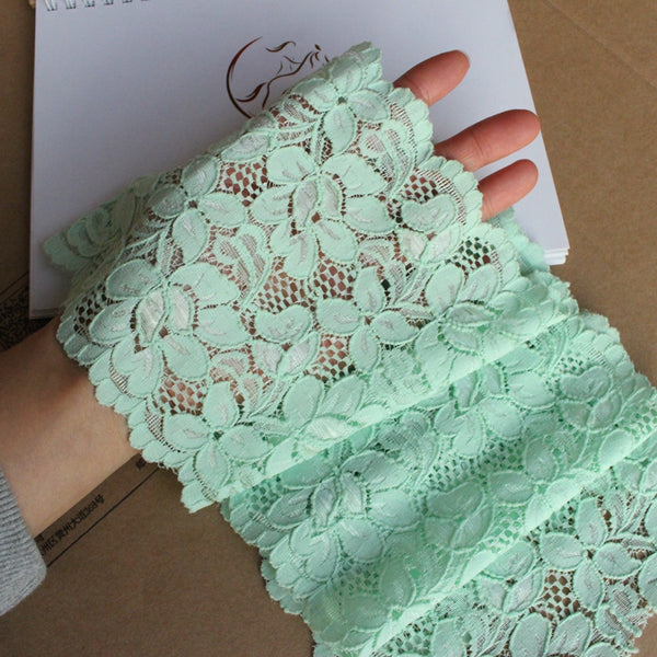 15cm Width x 190cm Length 2021 Spring Premium Floral Embroidery Lace Fabric Trim