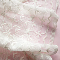 116cm Width x 90cm Length Floral Embroidery Lace Fabric